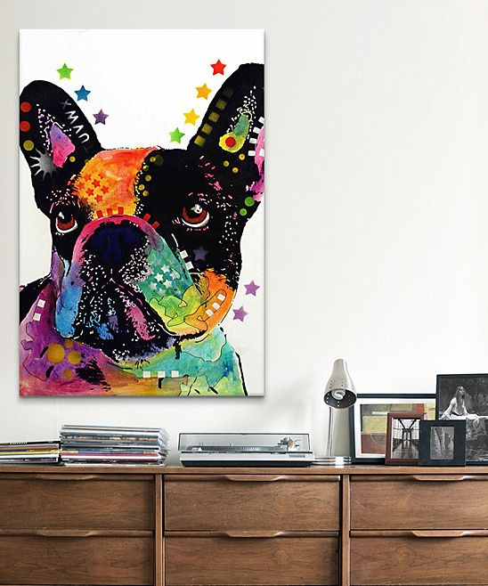 french bulldog wrapped canvas uncategorized randomness pinterest bouledogue fran ais. Black Bedroom Furniture Sets. Home Design Ideas