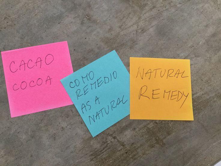 CACAO COMO REMEDIO NATURAL -  COCOA AS A NATURAL REMEDY