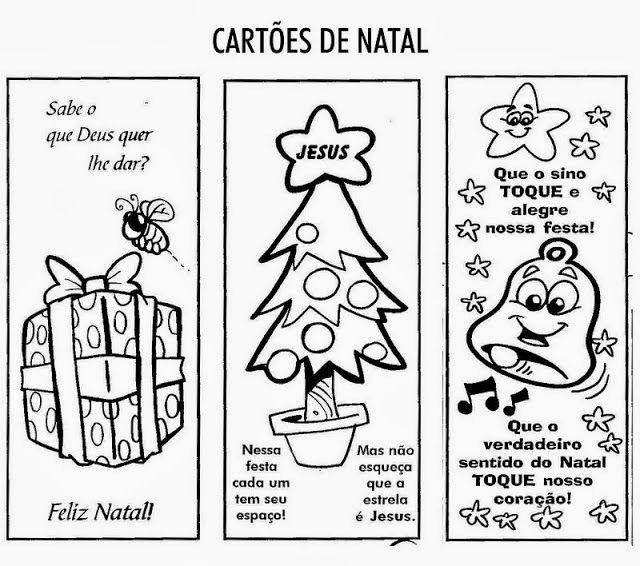Cartoes De Natal Para Imprimir E Pintar Atividades De Natal