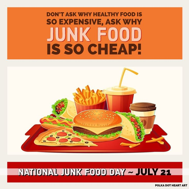 National Junk Food Day, July 21. Don't ask why healthy