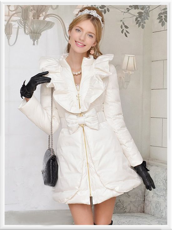 Morpheus Boutique  - White Ruffle Bow Zipper Pleated Lady Long Sleeve Coat, CA$184.60 (http://www.morpheusboutique.com/white-ruffle-bow-zipper-pleated-lady-long-sleeve-coat/)