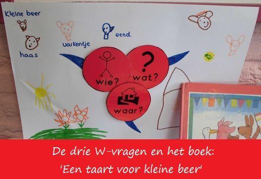 De drie W-vragen en het boek 'Een taart voor kleine beer' | Klas van juf Linda