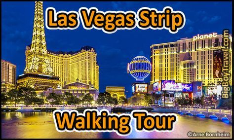 Las Vegas Strip walking tour with a free printable maps. Do it yourself guided tour of the top ten things to do and best sights to see while walking the Las Vegas Strip.