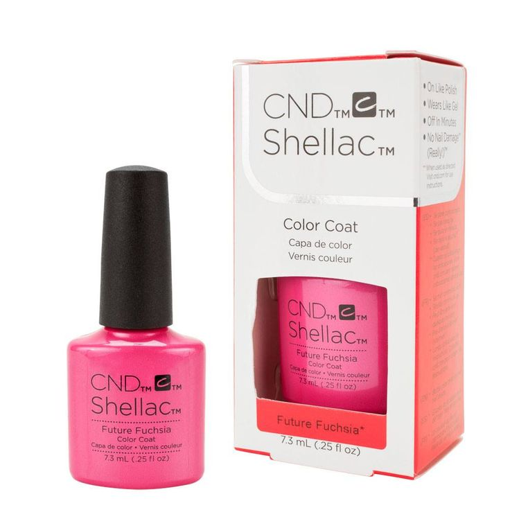 CND Shellac UV Gel Nail Polish Color Future Fuchsia Art Vandal Spring Collection .25oz