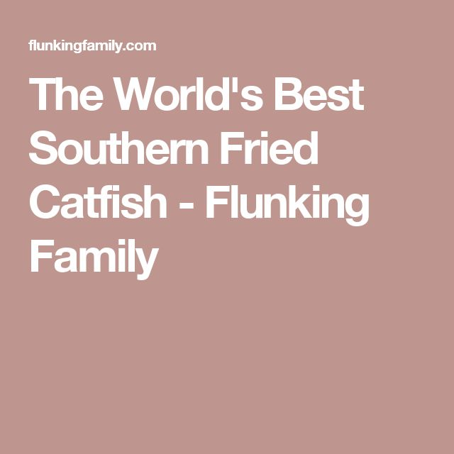 The World's Best Southern Fried Catfish - Flunking Family