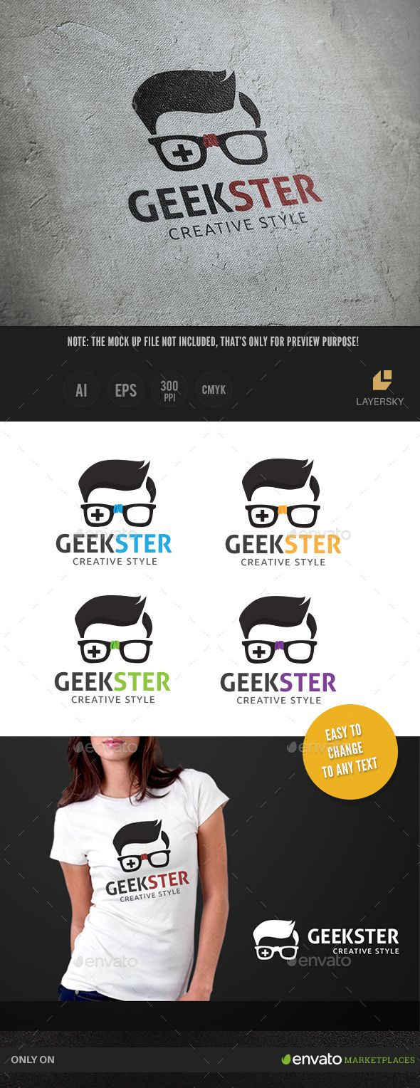 Geek Ster Logo Template Vector EPS, AI Illustrator. Download here: https://graphicriver.net/item/geek-ster/10507709?ref=ksioks