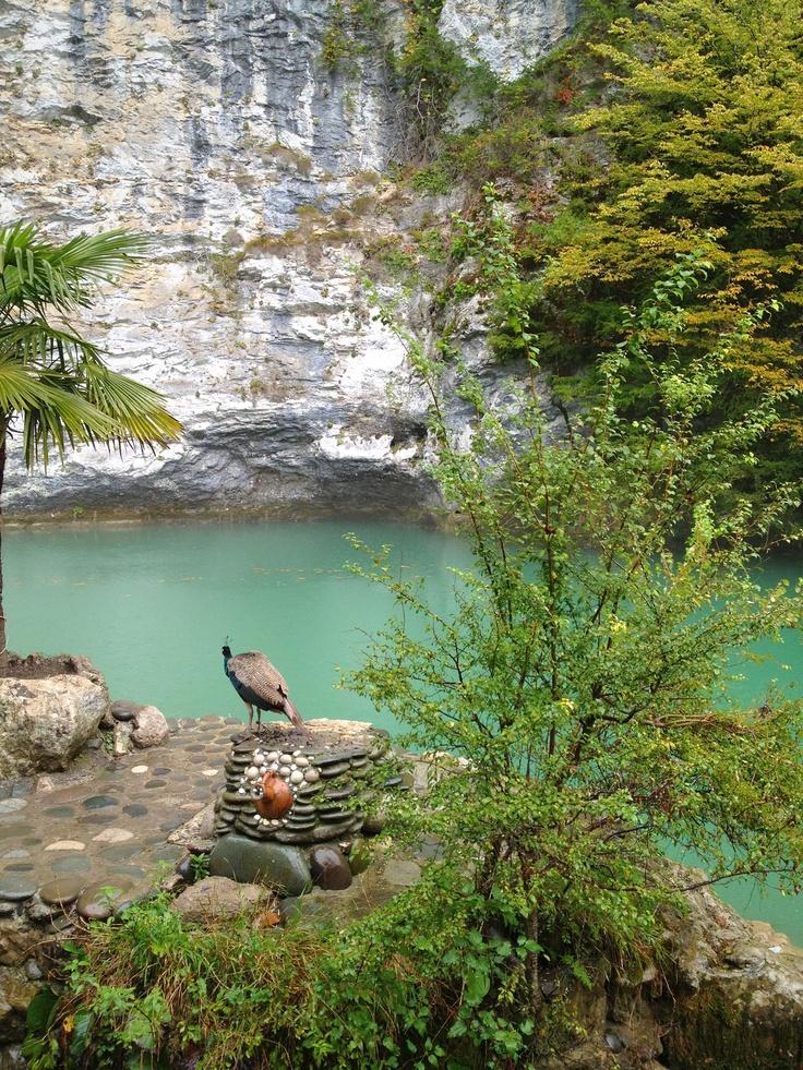 Blue Lake (Tskhyna Lake) the Caucasus, Abkhazia (Голубое озеро, Кавказ, Абхазия)