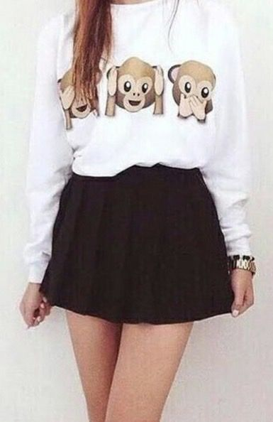 Monkey emoji sweater