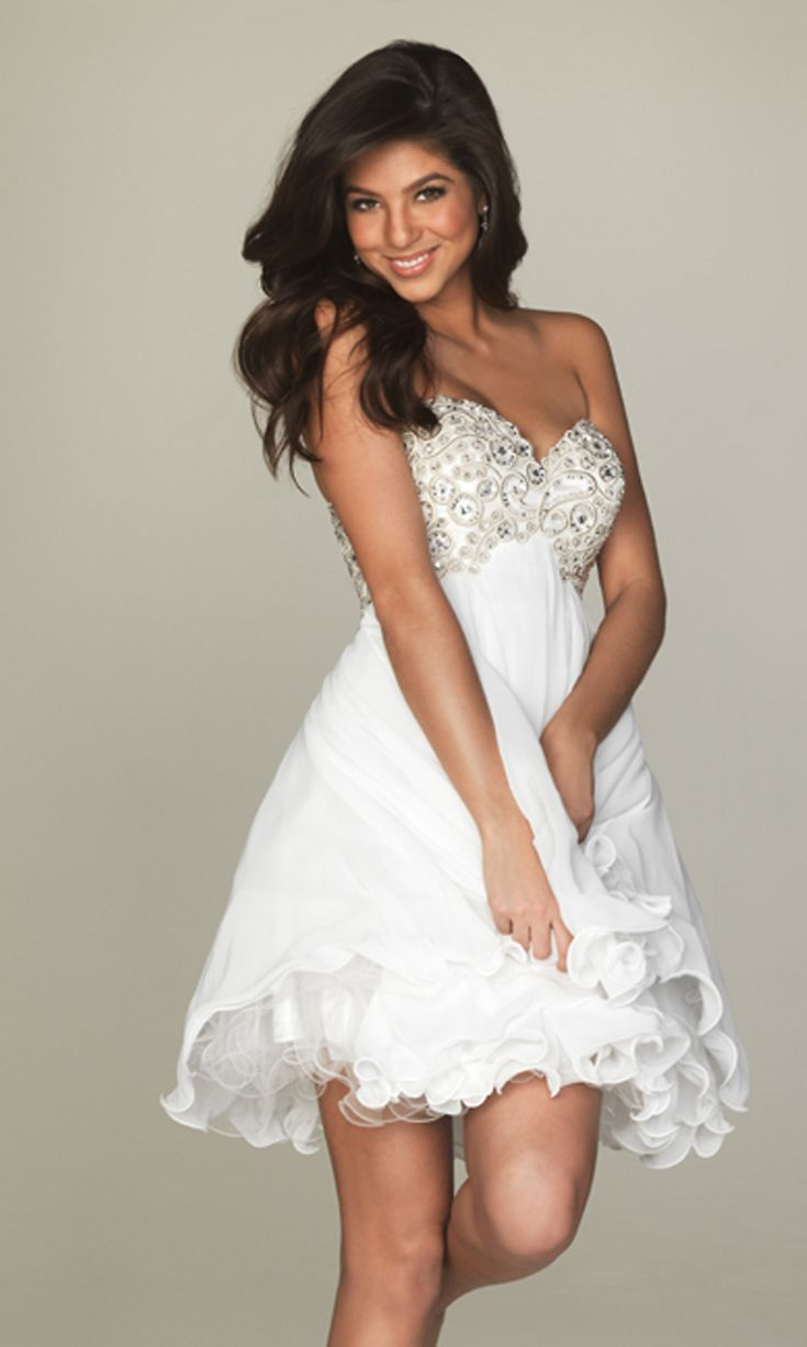 Womens White Party Dresses