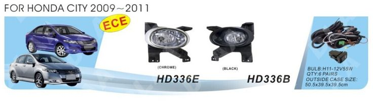 Car fog lamps, light source, safety DLAA fog lamps, suitable for Hond/a CITY 2009,2010,2011 / H11 12 V, 55 w