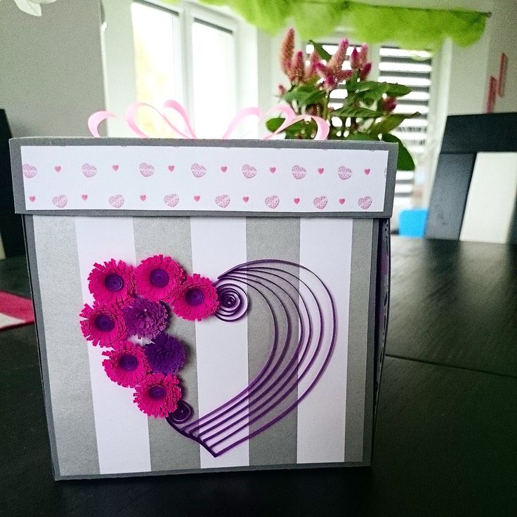 First birthday exploding box