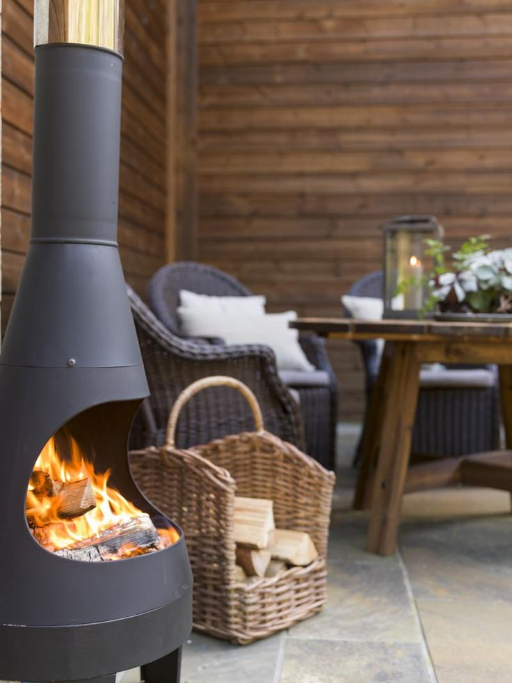 Amusing Unique Outdoor Fireplace Kits Design With Rattan