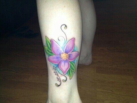 Violet tattoo to represent alexa