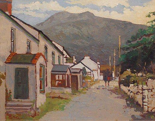 Alex McKenna-The Old Colony, Achill  #country #cottage #art #painting #Ireland #sky #landscape #AlexMcKenna #DukeStreetGallery