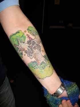 Tatuaż z Małym Księciem