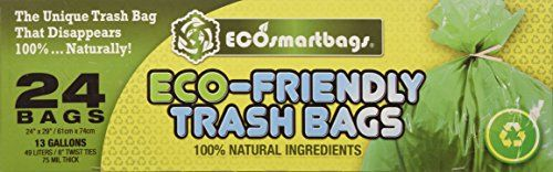 Ecosmartbags 13-Gallons 24 Ct Eco-Friendly Commercial Gra…
