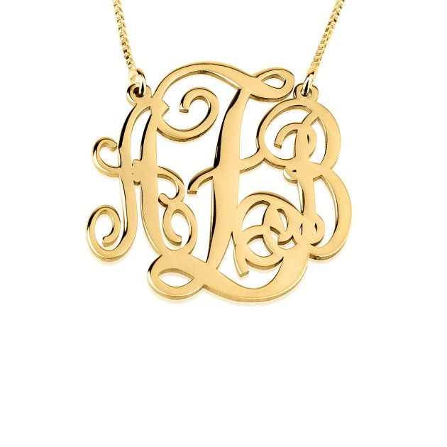 Whether it is for a birthday, anniversary, or graduation this medium split chain 24K gold plated monogram makes the perfect gift for that girl in your life.