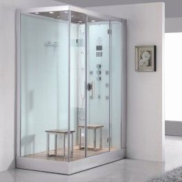 Ariel Platinum DZ961F8 White Steam Shower
