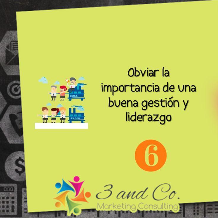 Obviar la importancia de una buena gestión y liderazgo. #empresa #oficina #marketing #elsalvador