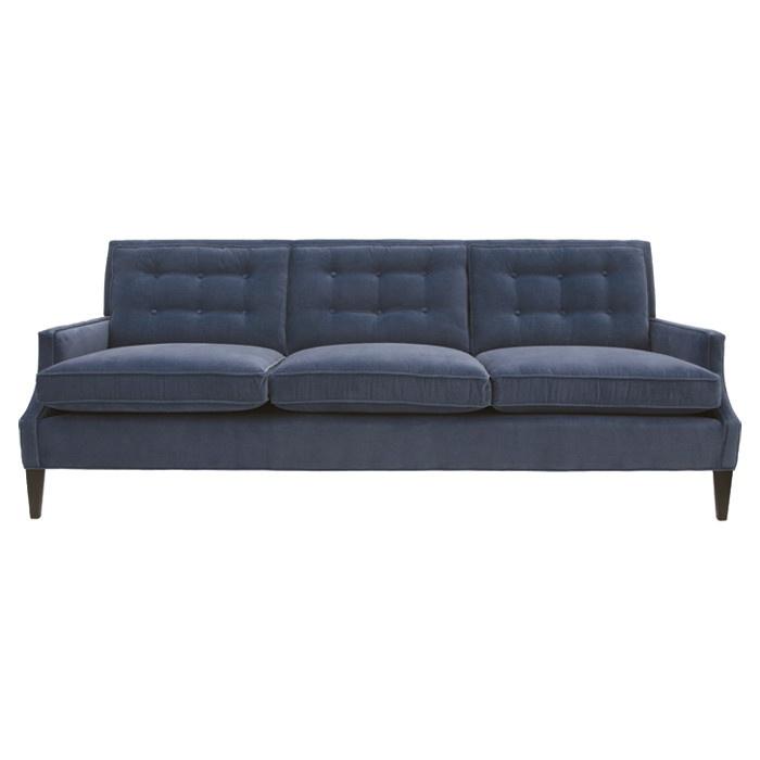 Midnight Navy Tufted Sofa