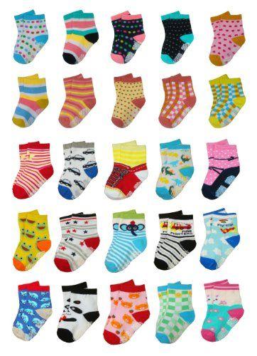 BOMIO | ABS Socken in farbenfrohem Design | Antirutsch Baby-S�ckchen aus hautfreundlichem Material | Stoppersocken | Hervorragende Passform | 3er Pkg. Jungen