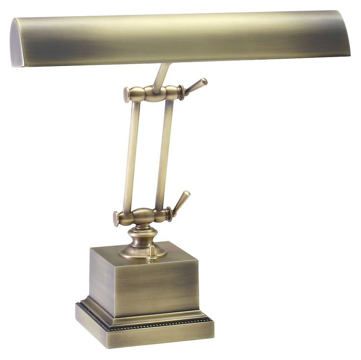 House of Troy P14-202-AB Antique Brass 13 Inch Tall Transitional Piano/Desk Lamp - HOT-P14-202-AB