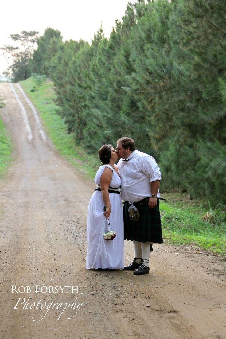Wedding photography bride and groom kiss shot. Kilt. Scottish Wedding by Rob Forsyth Photography www.facebook.com/10fourphotography