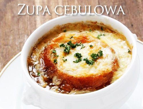 Zupa cebulowa - przepis onion soup