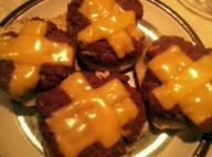 """old school cafeteria """"Pizza Burgers"""" #recipe. I loved the grade schools pizza burgers..wonder if these are similar. Ours were more like sloppy Joe vs formed party."""