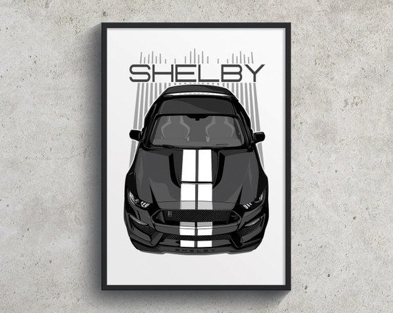 Ford Mustang Shelby Gt350 Poster Black Gt350 Poster Shelby Etsy Ford Mustang Shelby Mustang Shelby Mustang