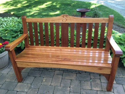 I Decided I Needed A New Garden Bench For My Patio. So I Decided On  Mahogany. I Used Marine Waterlox For The Finish. Brushed On One Coat  Original Sealer ... Part 88