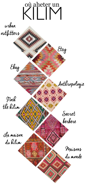 Où trouver un tapis kilim ?
