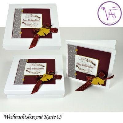 Weihnachtsverpackung - Box mit Weihnachtskarte  Nr. 05 ... eine tolle Idee um Gutscheine oder Geld originell zu verpacken ...