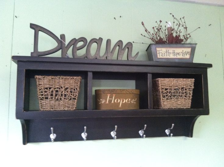 Cubby Wall Shelf Country Shelf for Baskets by appletreewoodcrafts, $137.40