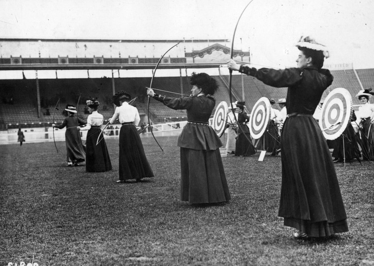 Olympic archers. London, 1908