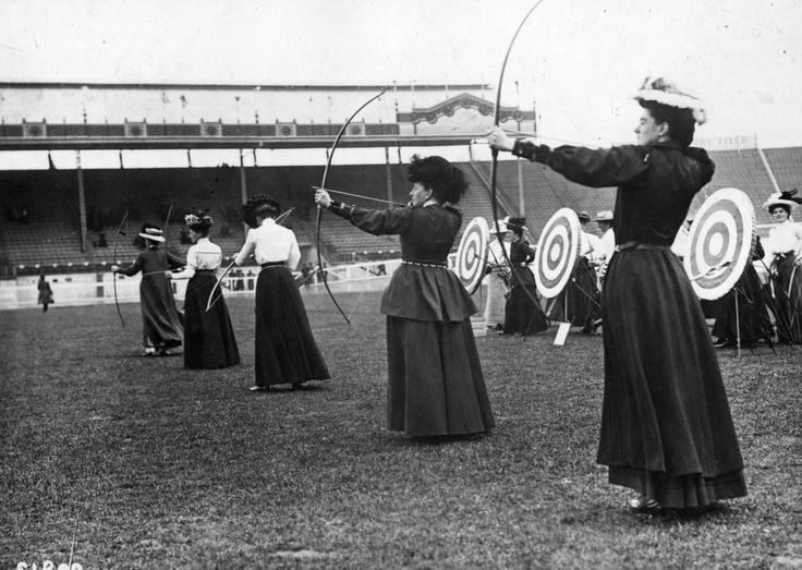Olympic archers. London, 1908