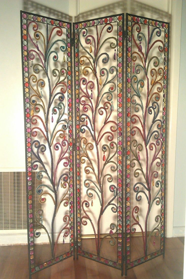 colourful ishka decorative screen room divider beaded