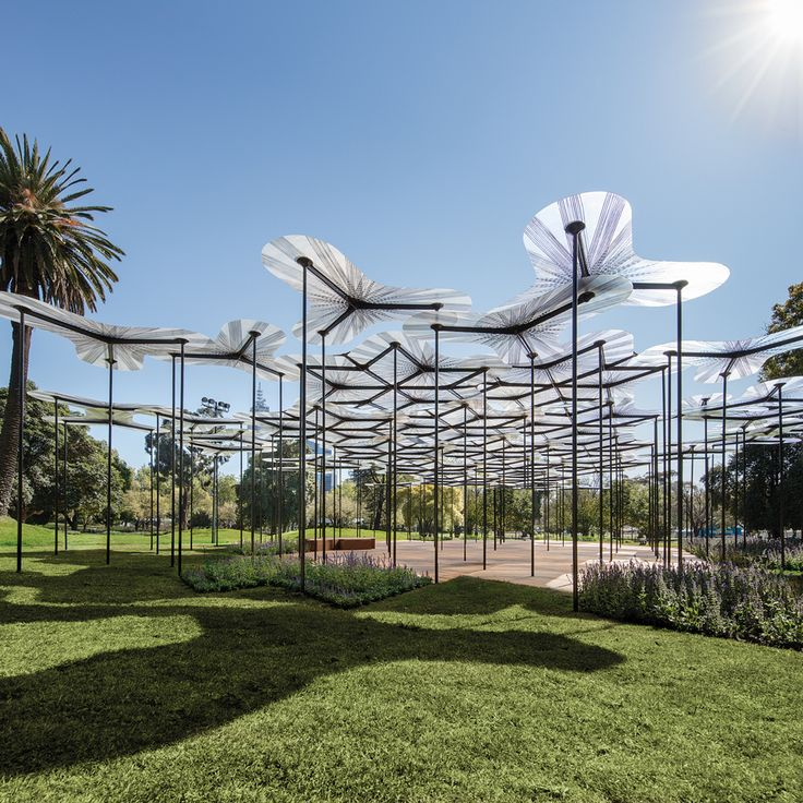 Amanda Levete's tree canopy-like MPavilion opens in Melbourne.