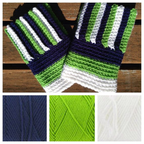 Seattle Seahawks Sounders boot cuffs football by KnotableKnits