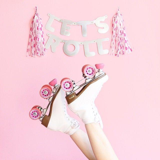 patins com rodas pink