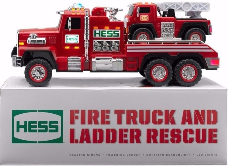 Hess Toy Fire Truck And Ladder Rescue Remote Control Activated Sound Effects  #collectible #hess #vehicle #remotecontrol