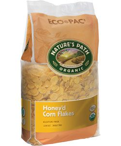 The BEST organic cereals I've ever had! YUM! http://shop.naturespath.com/  Nature's Path Honey'd® Corn Flakes - ECO PAC | 26.4 oz. bag | Crisp, golden, gluten-free flakes made of pure cornmeal, lightly sweetened with concentrated grape juice, but sweetened with a mix of organic evaporated cane juice and honey.