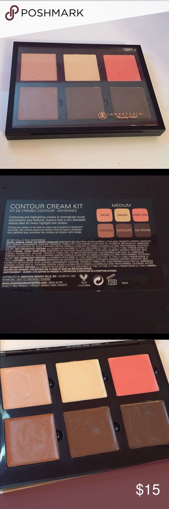 ABH Cream Contour Kit used less than 5x. sanitized and cleaned. Anastasia Beverly Hills Makeup Concealer