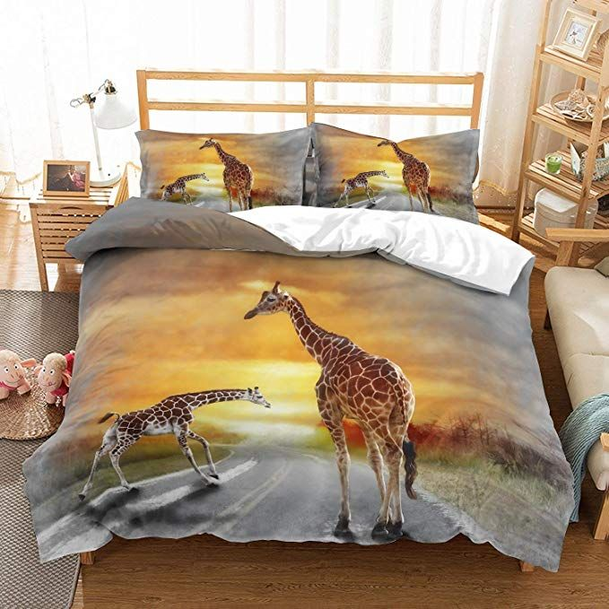 Amazon Com Patatino Mio 3d Printed Animal Bedding Set Queen