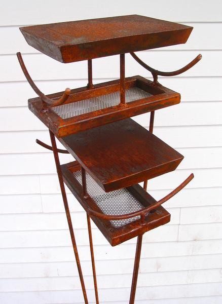Pagoda Bird Feeder - Asian style modern Birdfeeder - Large freestanding sculptural bird feeder