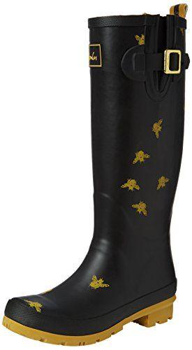 Joules Women's Welly Print Rain Boot, Black Bees, 8 M US ... https://smile.amazon.com/dp/B00KBZ1FVC/ref=cm_sw_r_pi_dp_x_DVCDybQ9NT4KX