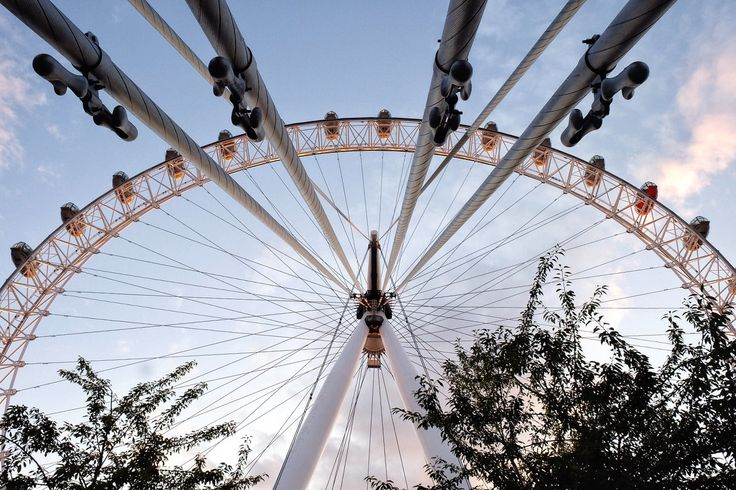 View from beneath the London eye