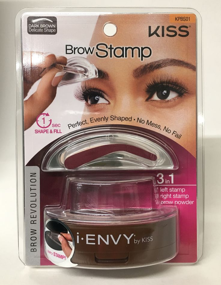 Kiss i.Envy Brow Stamp Dark Brown KPBS01 (delicate shape)