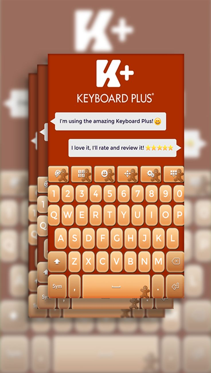 We really love Gingerbread! That's why our designers created for you this amazing Gingerbread Keyboard!