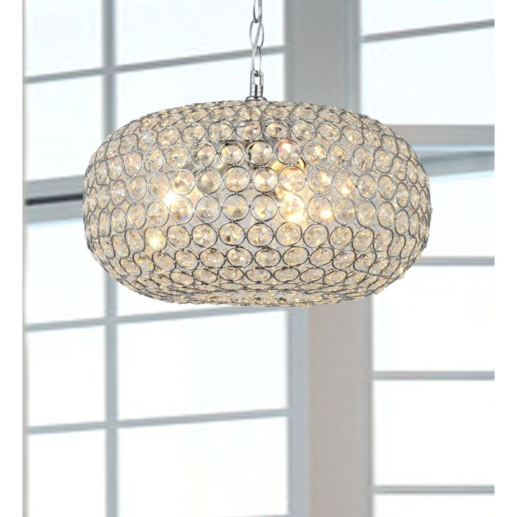 Dazzling crystals catch the light and create a richly elegant ambiance in any room this